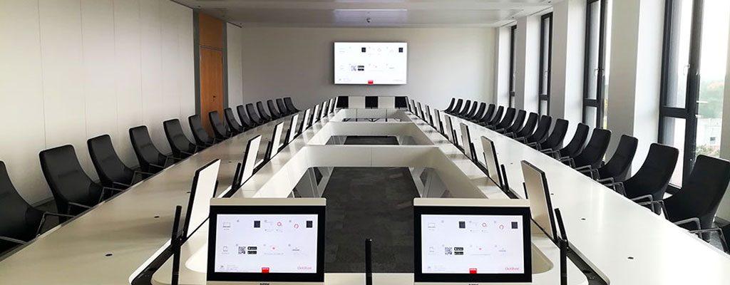 Videokonferenz im Konferenzraum