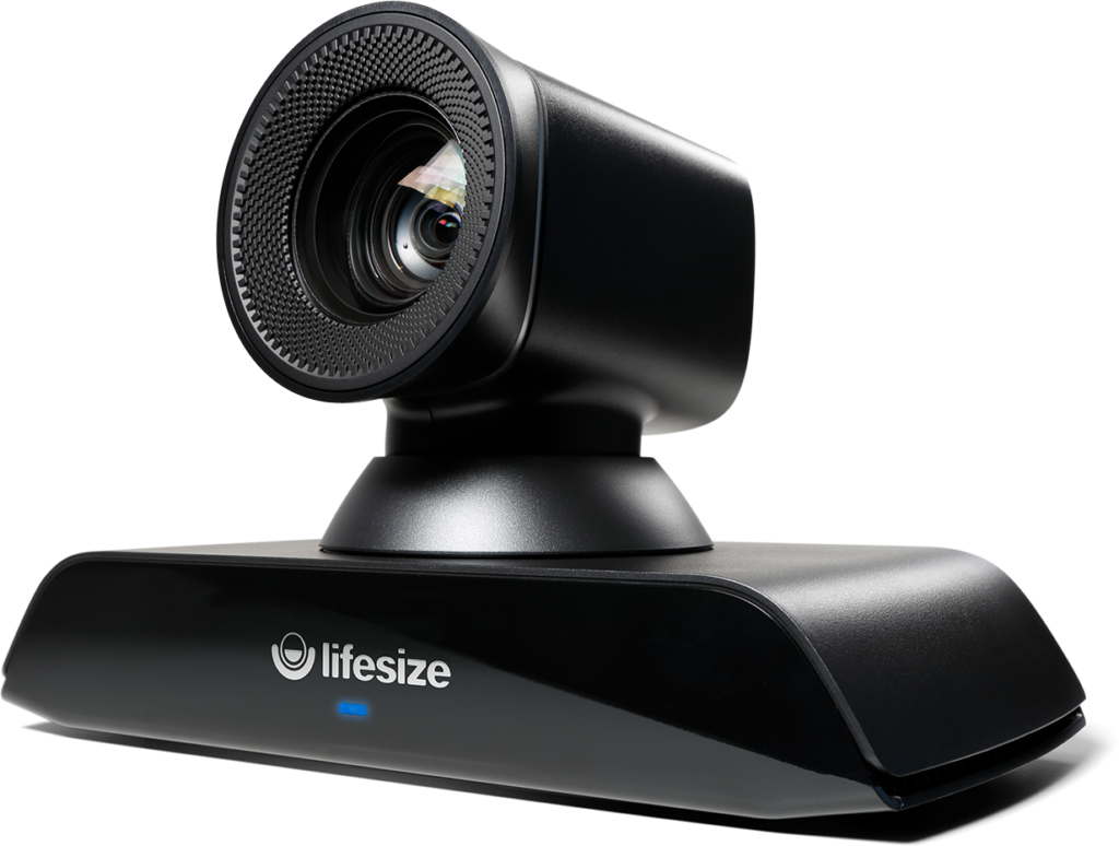 Schwarze LifeSize 700 Kamera halb schräge Perspektive