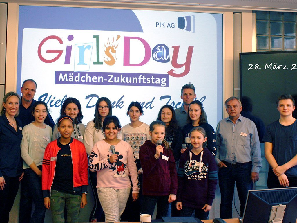 Girls´ Day 2019 der PIK AG Gruppenbild