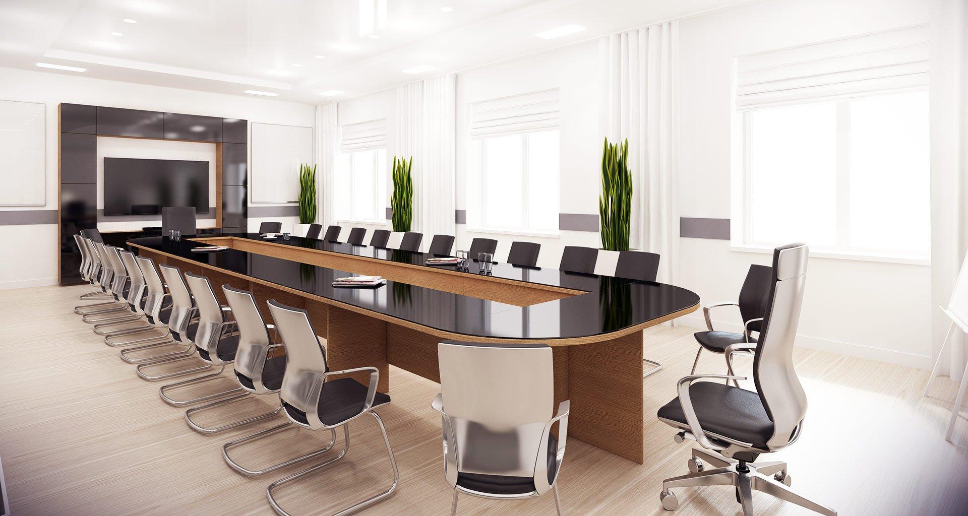 Konferenzraum und Konferenztechnik