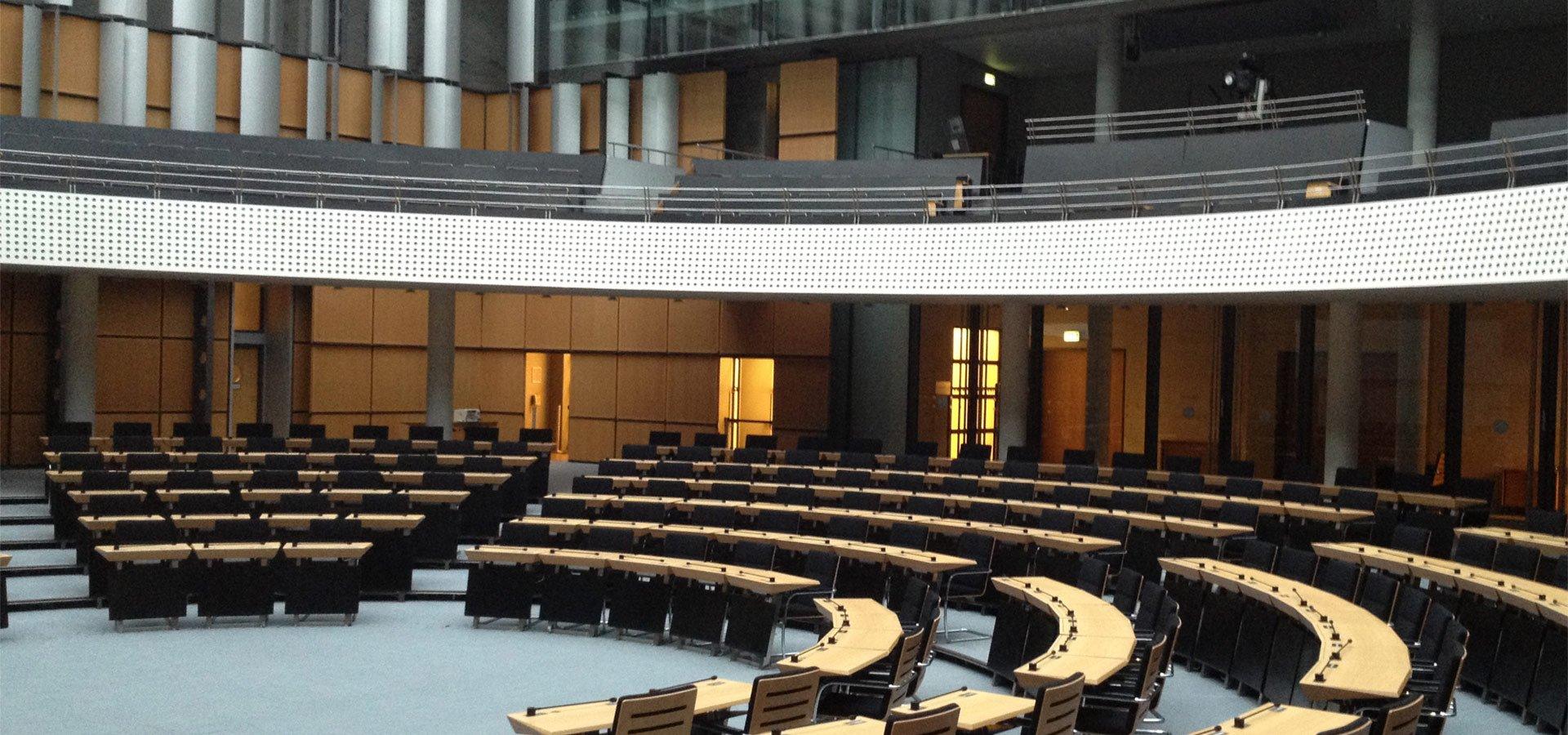 Konferenztechnik im Abgeordnetenhaus