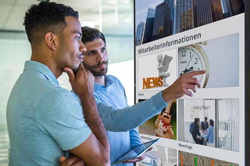 Digitales Schwarzes Brett Die Ideale Mitarbeiterinformation