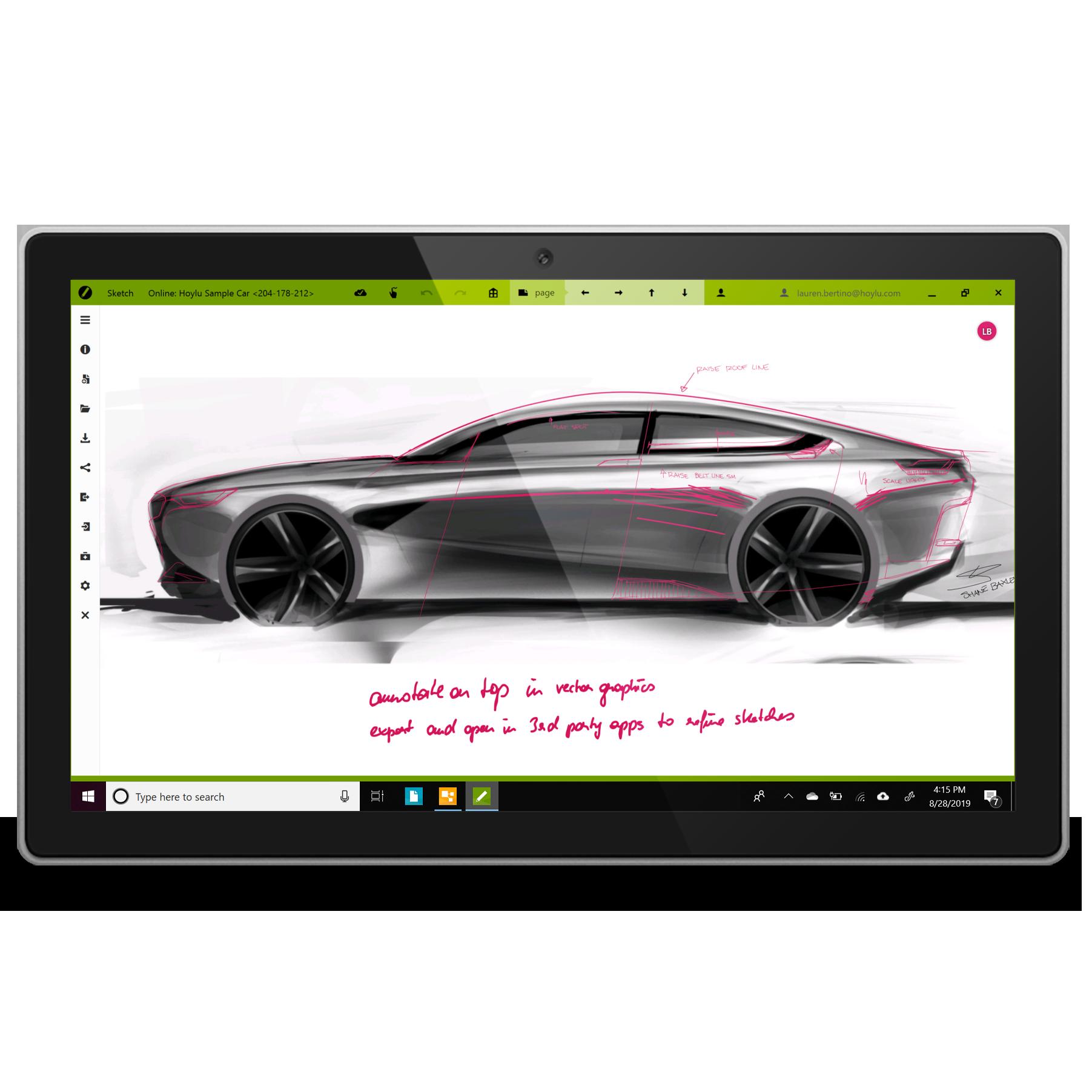 Sketch Windows Surface
