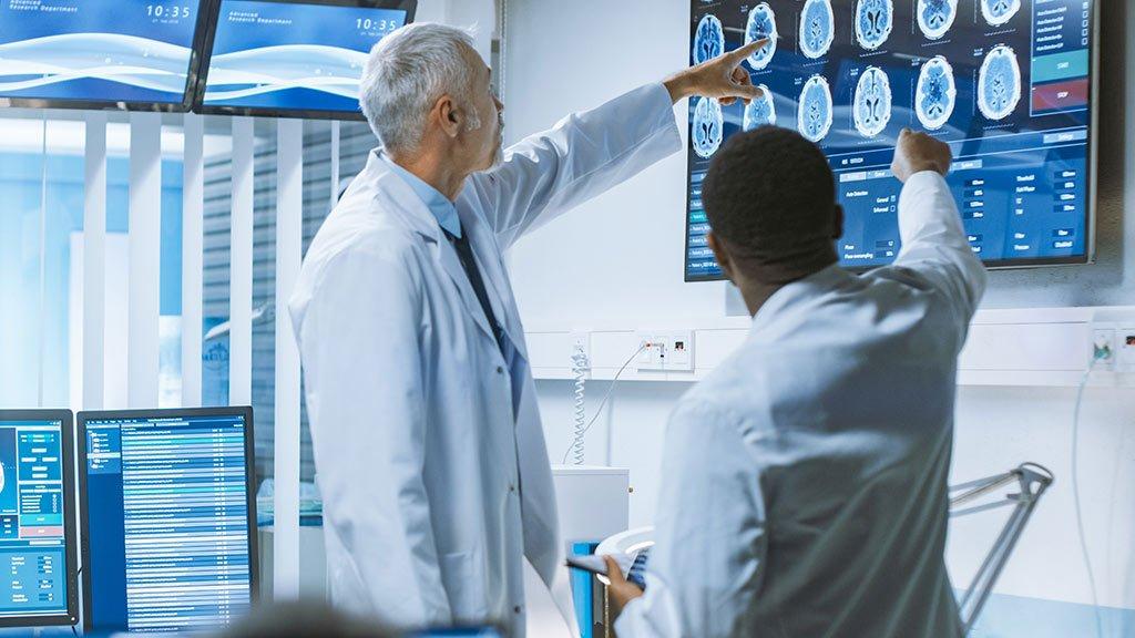Digital Signage Touch Display Medizin