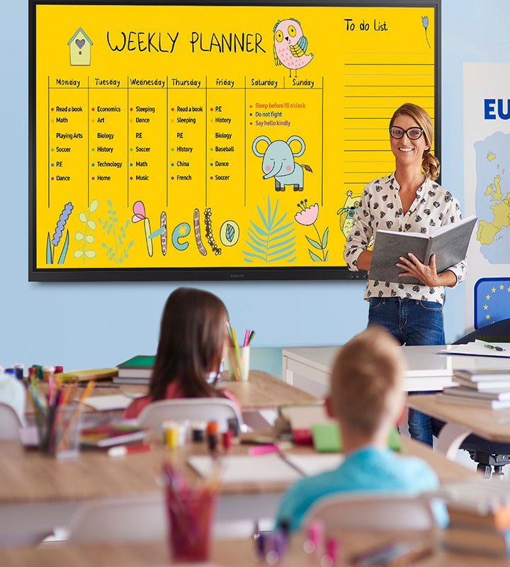 Flip 85 Zoll Lehrerin
